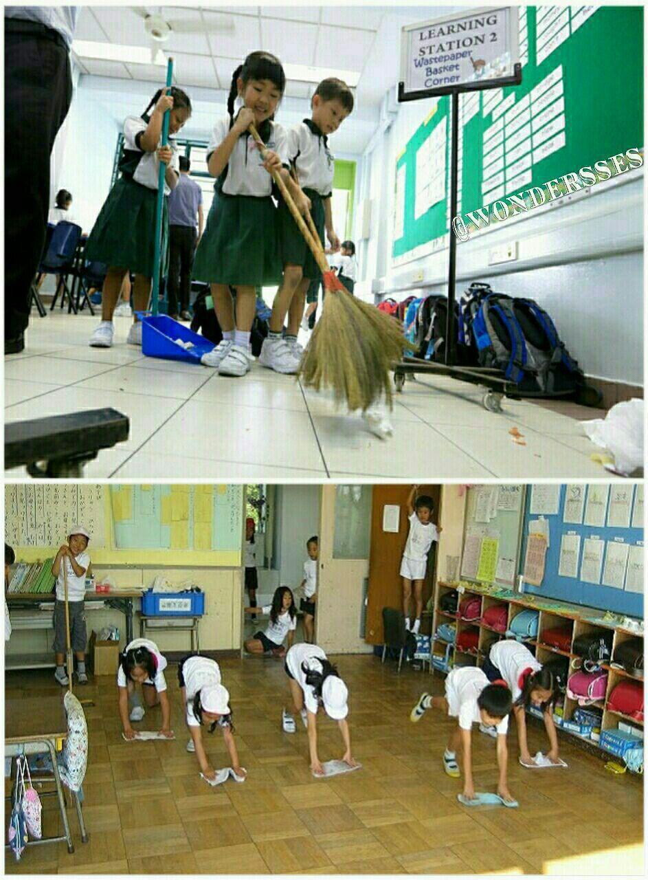 مدرسه های ژاپن سرایدار ندارند! در ژاپن دانش آموزان تا ۱۰…